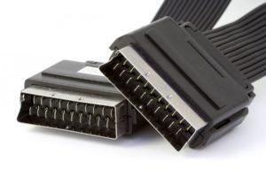 technologie câble vidéo audio câble universel transmission dispositif électronique analogique accessoire accessoire connecteur électrique péritel